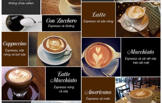 Nét đặc trưng của các loại cà phê Italy